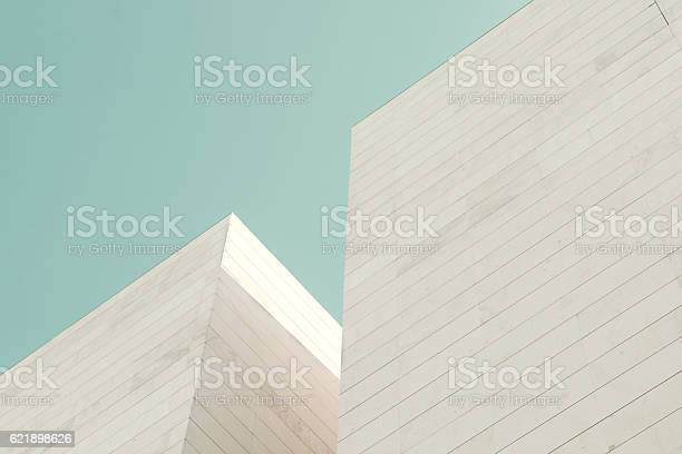 Detail of a building facade made of stone blocks
