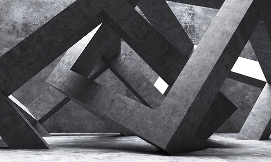 Abstract square shape architecture.