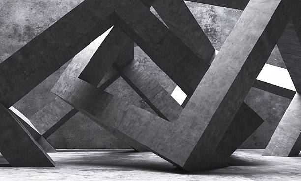 Abstract architecture Abstract square shape architecture. monochrome stock pictures, royalty-free photos & images