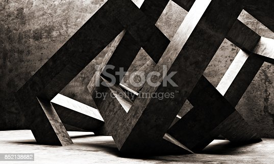 istock Abstract architecture 852138682