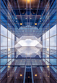 modern glass building, abstract architecture