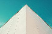 Close up of a building facade.