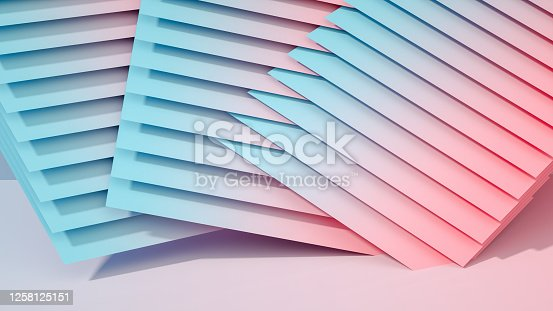 926309126 istock photo 3D Abstract Architecture, Slice, Layer Background 1258125151
