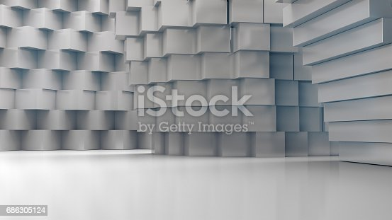 istock Abstract  architecture structure,Product showcase,Abstract empty space. 686305124