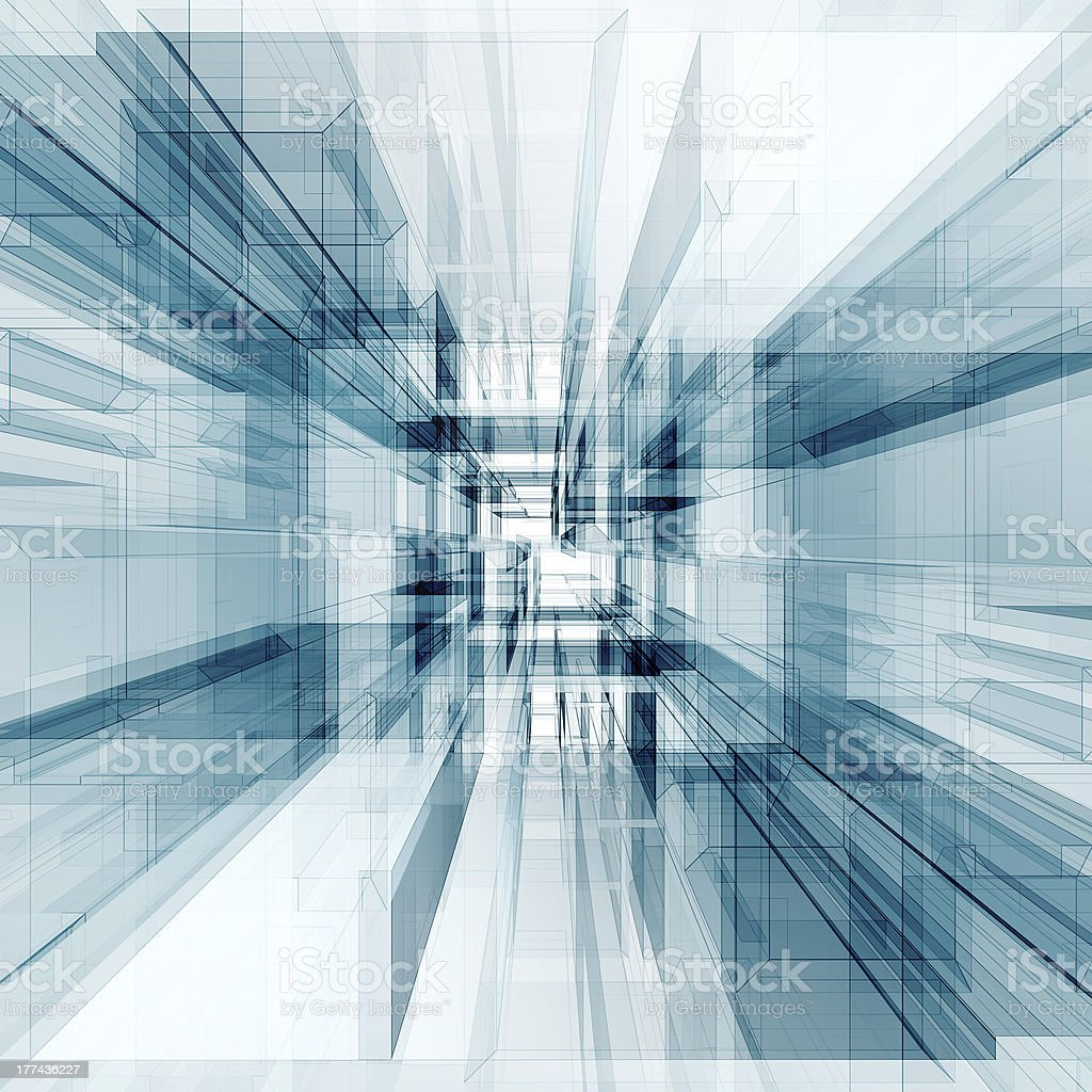 Abstract architecture tunnel royalty-free stock photo