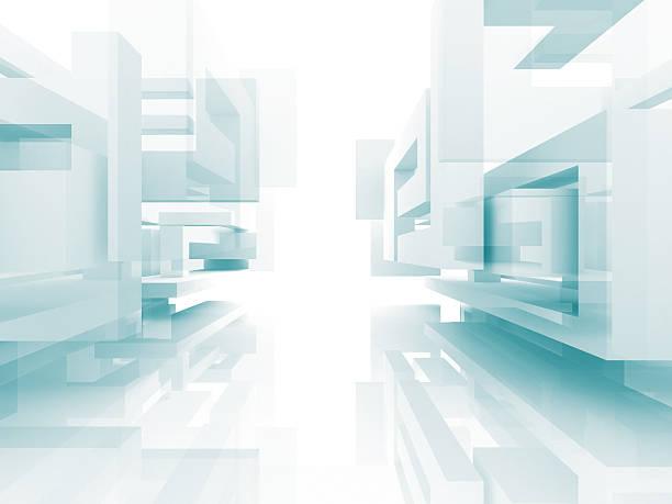 Abstrakt Architektur, Bau Design-Hintergrund Weiß – Foto