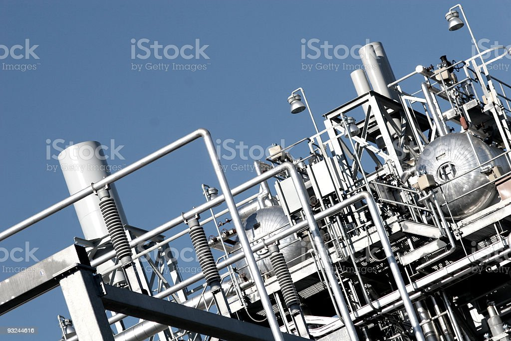 Abstract arrangement of steely industry things royalty-free stock photo