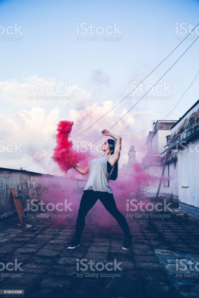 Arte abstracto y danza contemporánea - foto de stock