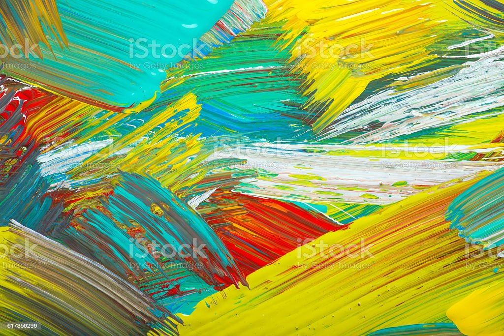 Abstract art background. Hand-painted stock photo