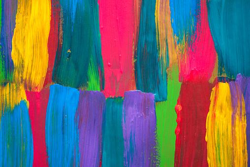 Achtergrond Van De Abstracte Kunst Handgeschilderde Stockfoto en meer beelden van Abstract