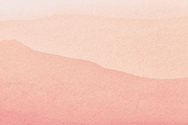 Abstract art background light pink and coral colors. Watercolor painting on canvas with gradient. Abstract art background light pink and coral colors. Watercolor painting on canvas with rose stains and gradient. Fragment of artwork on paper with pattern. Texture backdrop. coral colored stock pictures, royalty-free photos & images