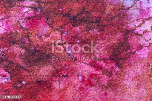 939873258 istock photo Abstract art background light purple and pink color. Watercolor painting on canvas. 1178743117