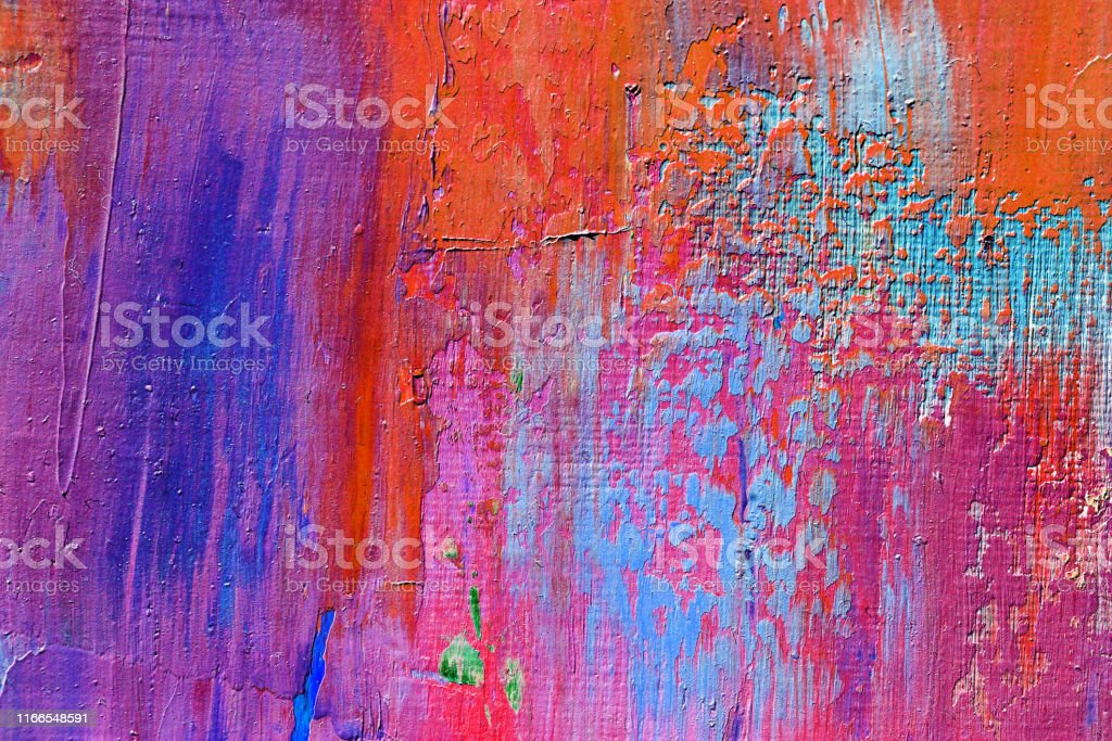 Abstract art background. Oil painting on canvas. Color texture.