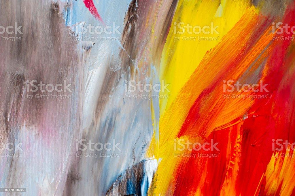 Abstrakte Kunst Hintergrund Ölgemälde Auf Leinwand Dekoration Farben ...
