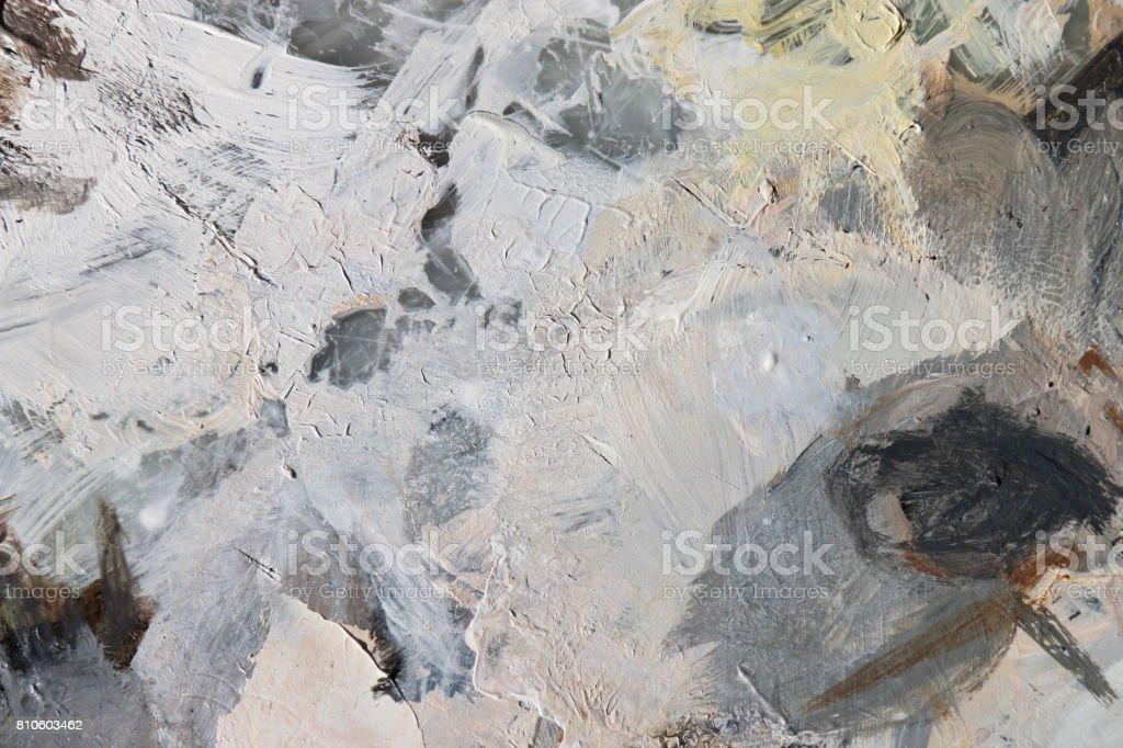 Contexte de l'art abstrait. Couleurs acryliques de pigment dans la palette. photo libre de droits