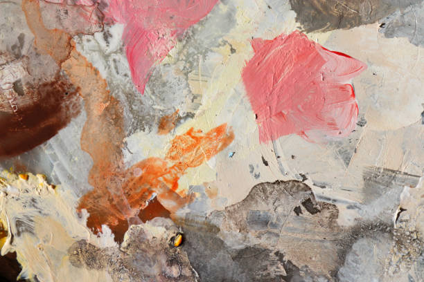 soyut sanat arka plan. pigment akrilik renk paleti. - tuval üzerine akrilik stok fotoğraflar ve resimler