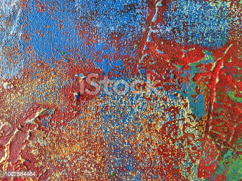 istock Abstract art background red and blue colors. 1002864464