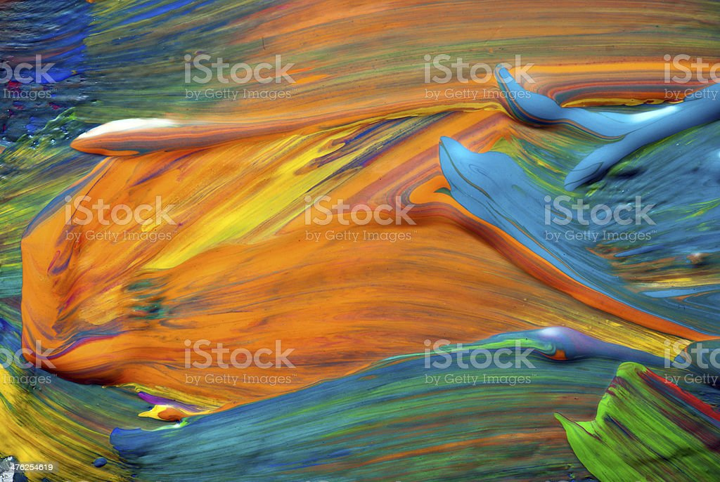 Abstract art backgrounds. Hand-painted background stock photo