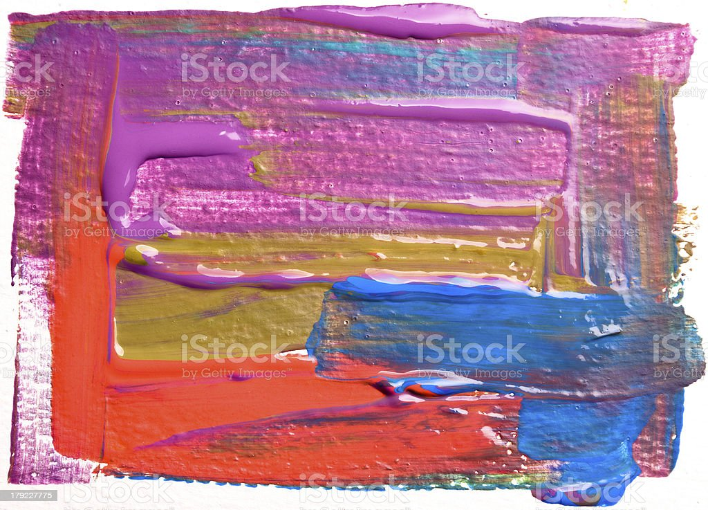 Abstract art backgrounds. Hand-painted background. SELF MADE. royalty-free stock photo