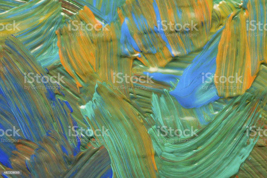 Abstract art backgrounds. Hand-painted background. SELF MADE. stock photo