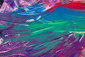 Abstract art colourful background. Hand-painted background. SELF MADE. - Image