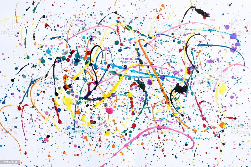 Abstract art creative background.Abstract art of splashes and drips watercolour background. stock photo