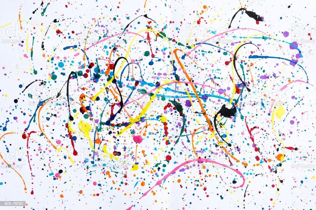Abstracte kunst creatieve achtergrond. Abstracte kunst van spatten en drupt aquarel achtergrond. foto