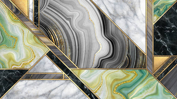 abstract art deco background, modern minimalist mosaic inlay, texture of marble agate and gold, artistic painted marbling, artificial stone, marbled tile surface, minimal fashion marbling illustration abstract art deco background, modern minimalist mosaic inlay, texture of marble agate and gold, artistic painted marbling, artificial stone, marbled tile surface, minimal fashion marbling illustration inlay stock pictures, royalty-free photos & images