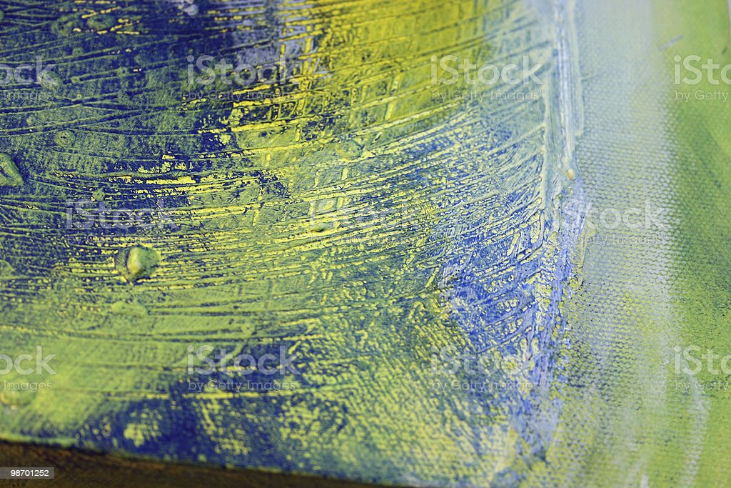 Abstract Art - Green, Blue, Yellow royalty-free stock photo