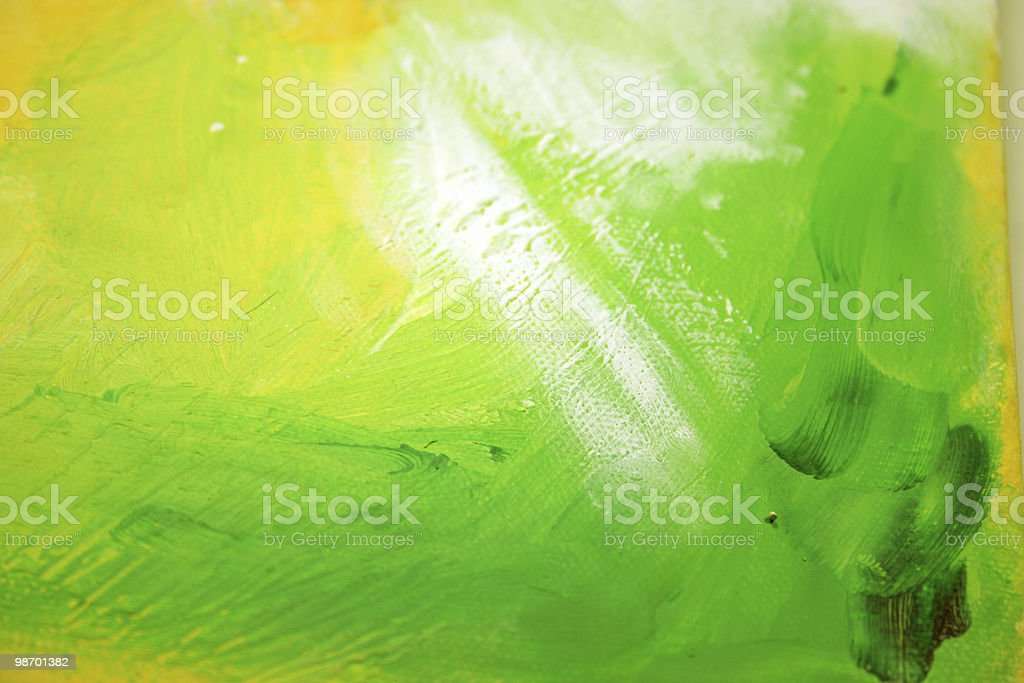 Abstract Art - Green & Yellow royalty-free stock photo