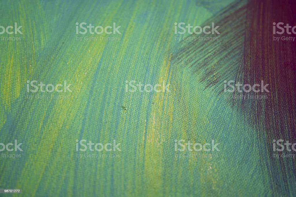 Abstract Art - Green & Yellow Strokes royalty-free stock photo