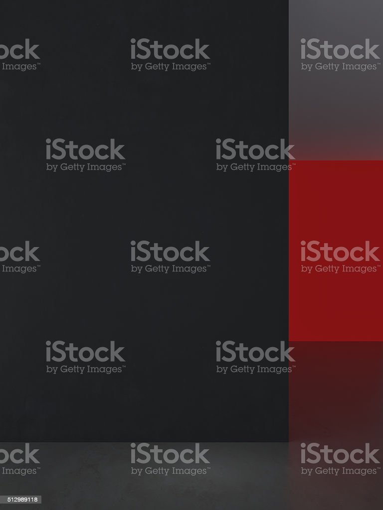 Abstract art interior composition stock photo