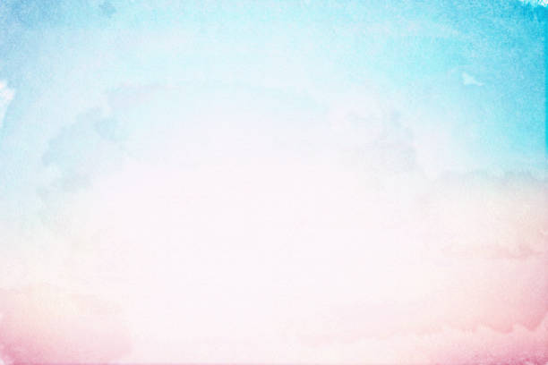 abstrakcyjna sztuka pastelowej akwareli na fakturze papieru szkicu dla elementu projektu tła jako baner, reklamy, prezentacja; koncepcja farby do barwy wody - pastelowy kolor zdjęcia i obrazy z banku zdjęć