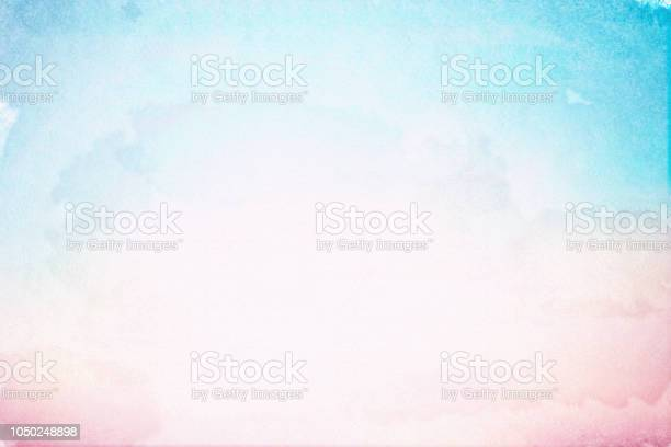 Photo of abstract  art of pastel watercolor on sketch paper texture for background design element as banner, ads, presentation ; water color effecting paint concept