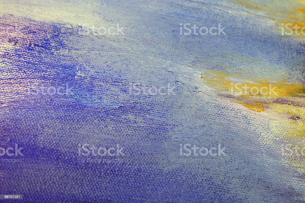Abstract Art - Purple, Blue, Yellow royalty-free stock photo