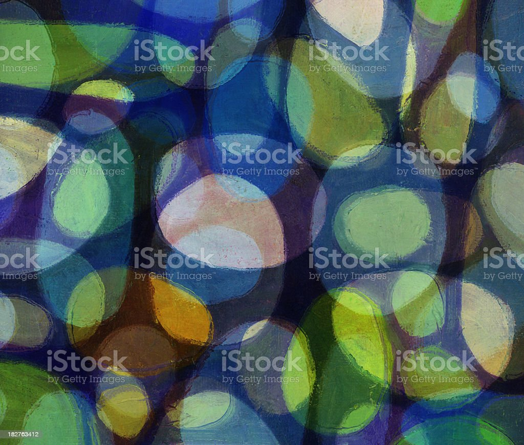 Abstract Art with Ovals royalty-free stock photo