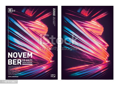 1197513976istockphoto Abstract artistic poster template with colorful background 1197513927
