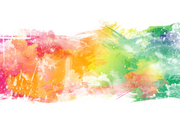 Abstract artistic watercolor background stock photo