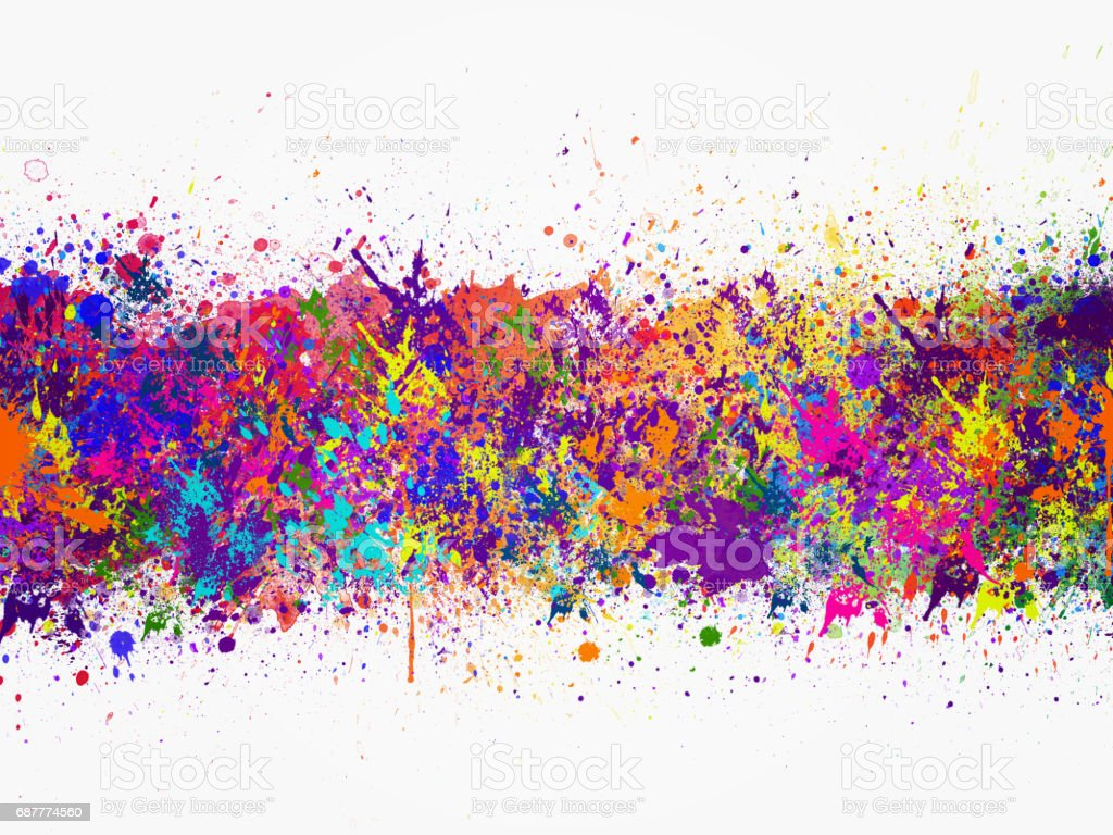 Abstract artistic watercolor splash background stock photo