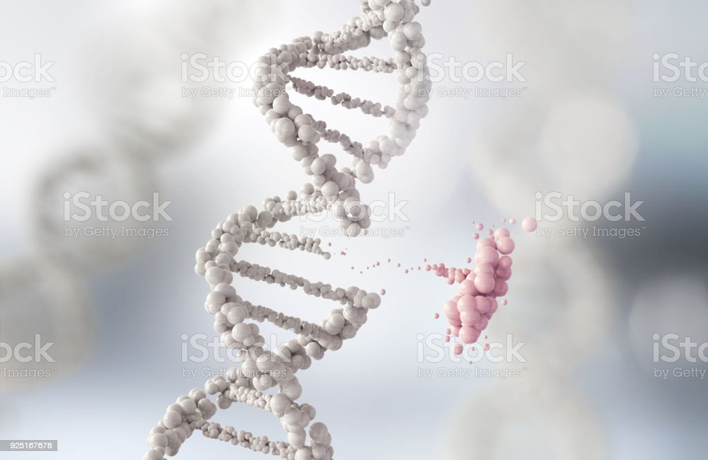 Abstract atom or molecule structure for Science stock photo