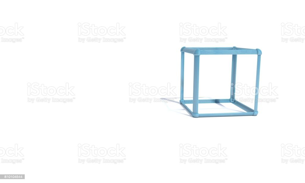Abstract atomic array cube of background, 3d stock photo