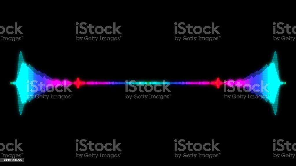 Abstract audio visualizer equalizer. Digital illustration backdrop stock photo