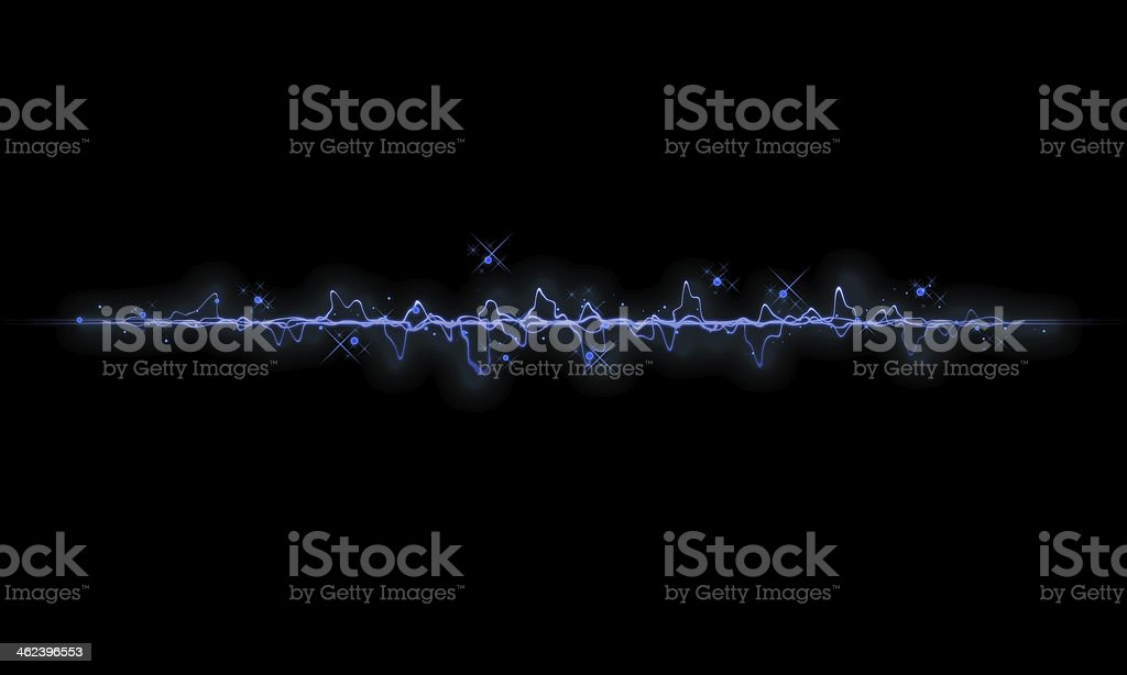Abstract audio wave stock photo