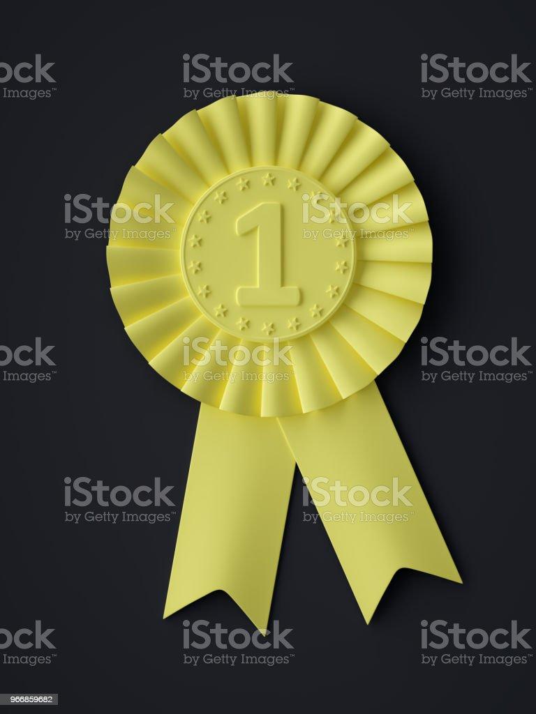 Abstract Award Ribbon Symbol stock photo