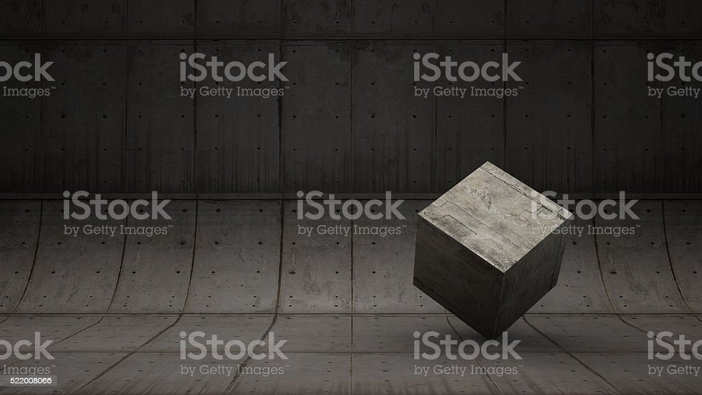 Abstract backdrop of Concrete pattern with the cement cube stock photo