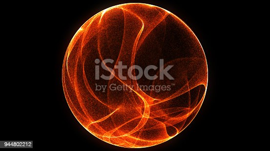 istock Abstract background 3d digital wave of glowing particles and wireframe. Explosion of glowing particles. Futuristic technology style background. 944802212
