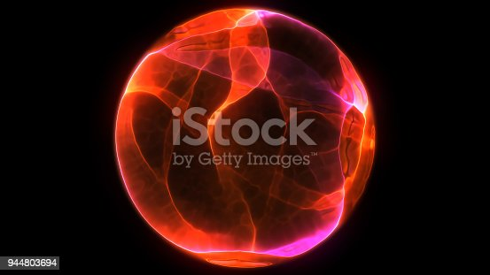 istock Abstract background 3d digital wave of glowing particles and wireframe. Explosion of glowing particles. Futuristic technology style background. 944803694