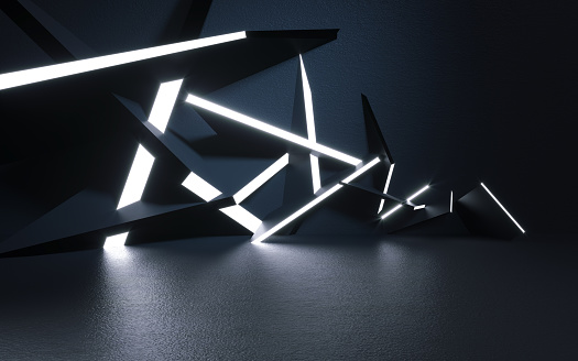 Abstract background and light - 3d illustration - rendering