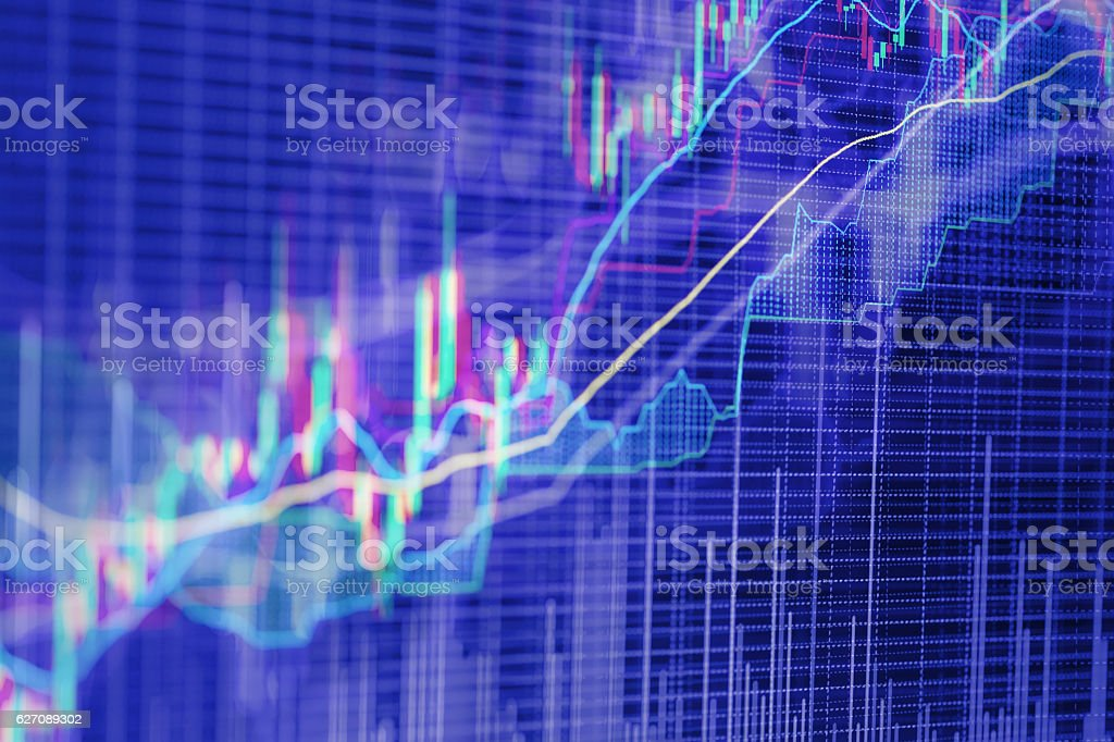 Abstract background based on stock market graphs stock photo