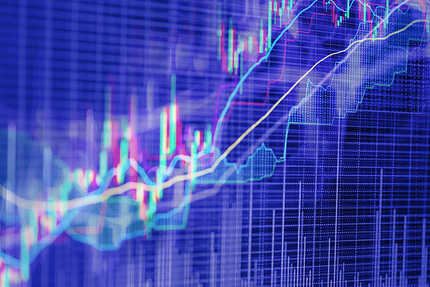 abstract background based on stock market graphs - diagramma a colonne foto e immagini stock
